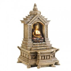 Golden Buddha Temple Water Fountain