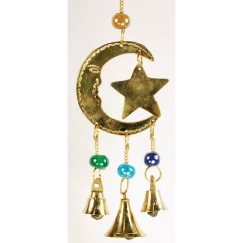 Three Bell Star and Moon Wind Chimes