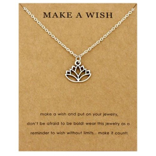 Make a Wish Lotus Flower Necklace