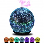 3D Gala - 200ML Ultrasonic Glass Diffuser with 3D LED Light Effect in many colors