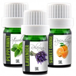 Essential Oils Set, 100% Pure Undiluted, Therapeutic Grade, Plant Based | 5ML Lavender, Peppermint, & Sweet Orange (Starter Pack)