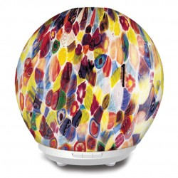 Gabriel - Decorated Glass Aromatherapy Diffuser w/ LED Light. Silent, Elegant, Ultrasonic