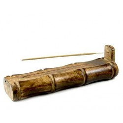 Incense Burner - Bamboo Holder and Storage