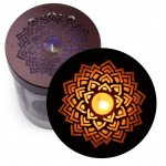 Soy Candle for Chakra Meditation Scented with Essential Oils | Crown Chakra Sahasrara | Lotus Flower | Enlightenment - 10.5oz