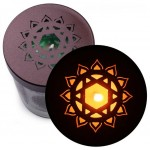 Soy Candle for Chakra Meditation Scented with Essential Oils | Heart Chakra Anahata | Wild Rose | Love and Sensitivity - 10.5oz